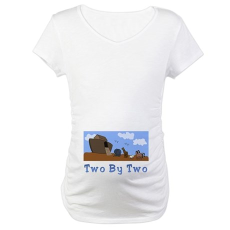 Noah's Ark Two By Two Maternity T-Shirt