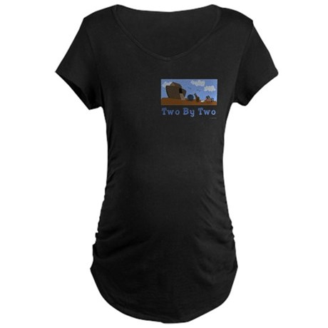 Noah's Ark Two By Two Maternity Dark T-Shirt