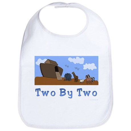 Noah's Ark Two By Two Bib