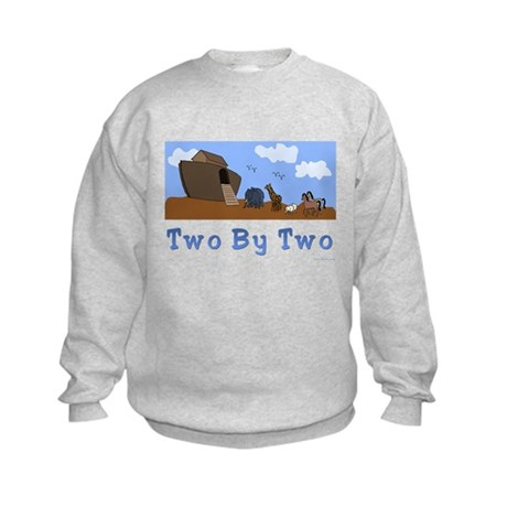 Noah's Ark Two By Two Kids Sweatshirt
