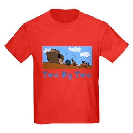 Noah's Ark Two By Two Kids Dark T-Shirt