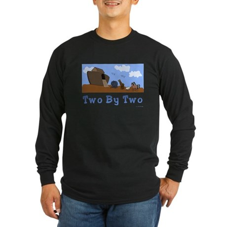 Noah's Ark Two By Two Long Sleeve Dark T-Shi