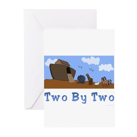 Noah's Ark Two By Two Greeting Cards (Packag