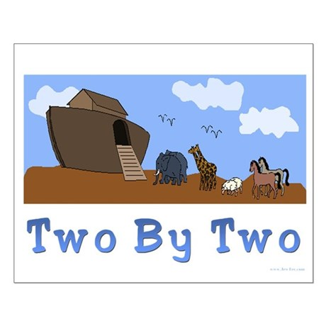 Noah's Ark Two By Two Small Poster