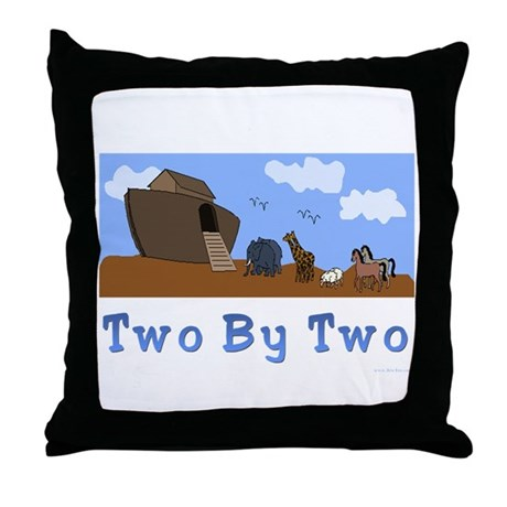 Noah's Ark Two By Two Throw Pillow