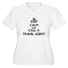 Keep calm and call a Travel Agen Plus Size T-Shirt