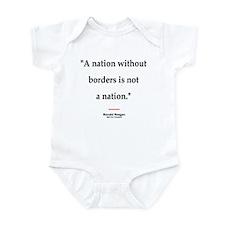 Reagan Borders Quote Infant Bodysuit