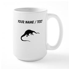 Diplodocus Silhouette (Custom) Mugs