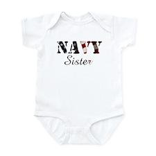 Navy Sister Flag Infant Bodysuit