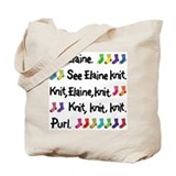 &amp;quot;See Elaine Knit&amp;quot; Tote Bag