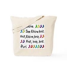 """See Elaine Knit"" Tote Bag"
