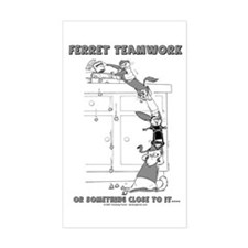 Ferret Teamwork Rectangle Decal