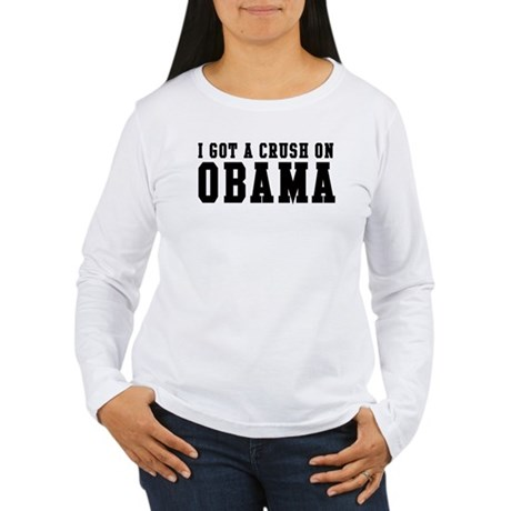 Crush on Obama 08  Women's Long Sleeve T-Shirt