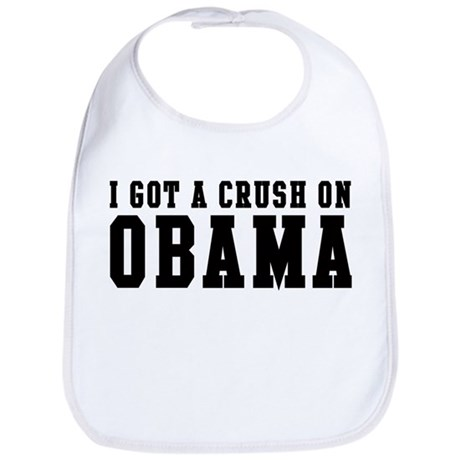 Crush on Obama 08  Bib