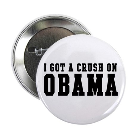 Crush on Obama 08 2.25&quot; Button (10 pack)