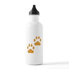 Brown Pawprints Water Bottle
