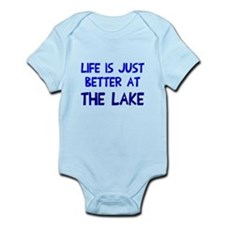Life is just better lake Infant Bodysuit