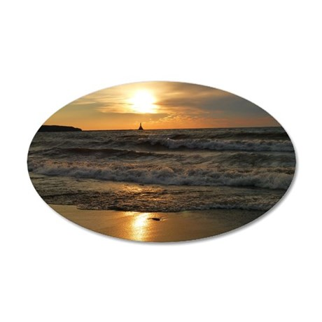 Golden Sunset Lake Superior Wall Decal
