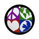 Peace, Earth, Love, Dove (Ornament)