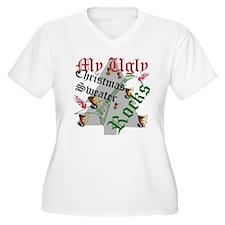 My Ugly Christmas Sweater Rocks Plus Size T-Shirt