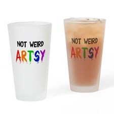 Not weird artsy Drinking Glass