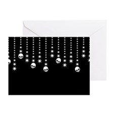 Skull Dangles Gothic Holiday Greeting Cards