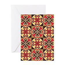 Folk Hearts Greeting Cards