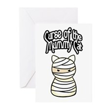 Curse of the Mummy Cat Greeting Cards (Package of
