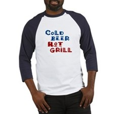 Cold Beer Hot Grill - Baseball Jersey