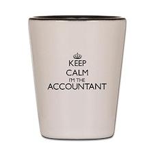 Keep calm I'm the Accountant Shot Glass