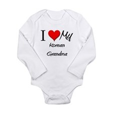 Cute Korean culture Long Sleeve Infant Bodysuit