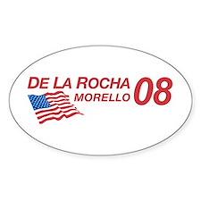 De La Rocha/Morello in 08 Oval Decal