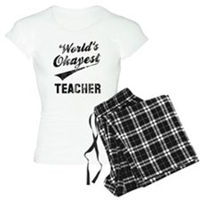 World's Okayest Teacher Pajamas