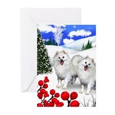 American Eskimo Dogs Greeting Cards (pk Of 10)
