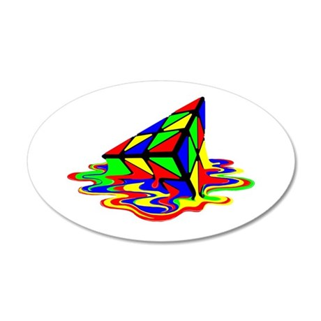 Pyraminx cude painting01B Wall Decal