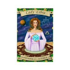Lady Libra Rectangle Magnet