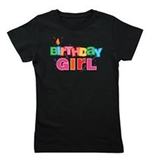 Birthday Girl Letters Girl's Tee