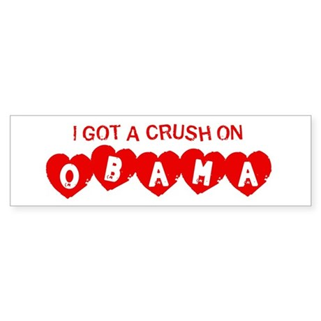 I Got a Crush on Obama (Vinta Bumper Sticker
