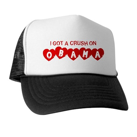I Got a Crush on Obama (Vinta Trucker Hat