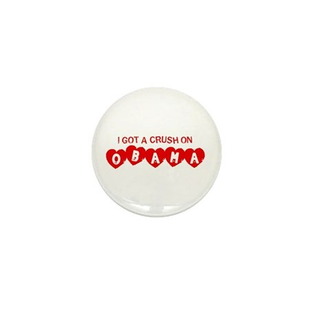 I Got a Crush on Obama (Vinta Mini Button (100 pac