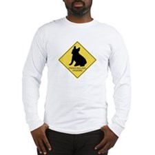 French Bulldog crossing Long Sleeve T-Shirt
