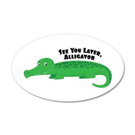 Later Alligator Wall Decal