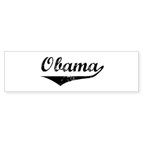 Obama (vintage-black) Bumper Sticker