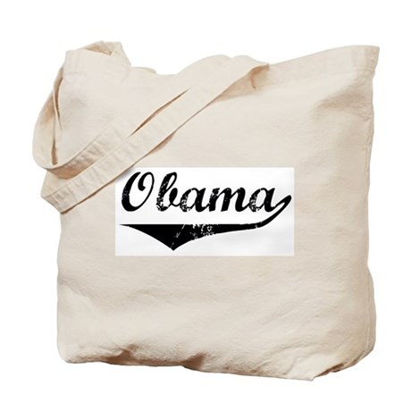 Obama (vintage-black) Tote Bag
