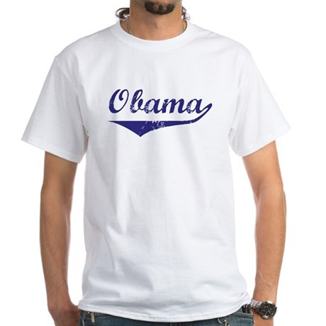 Obama (vintage-blue) White T-Shirt