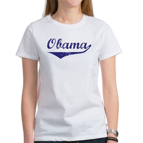 Obama (vintage-blue) Women's T-Shirt