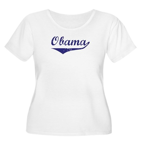 Obama (vintage-blue)  Women's Plus Size Scoop Neck