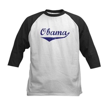 Obama (vintage-blue)  Kids Baseball Jersey