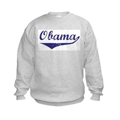Obama (vintage-blue) Kids Sweatshirt