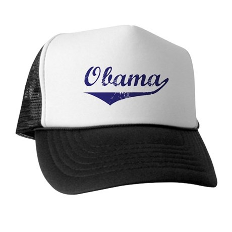 Obama (vintage-blue)  Trucker Hat
